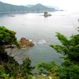 万緑の端の迫り出す熊野灘